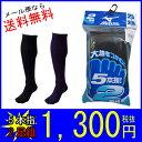 ミズノ(mizuno) 5本指2Pカラーソックス(2足組) 52UW084 サイズ:25〜28cm【メール便で送料無料】【靴下】