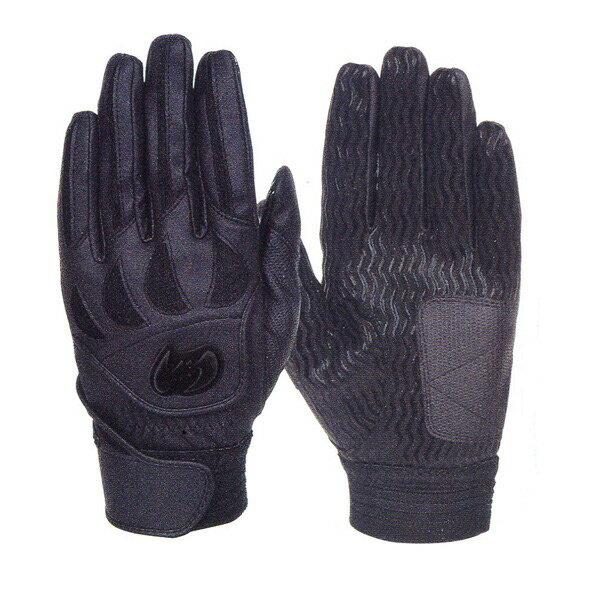 【ネーム刺繍無料】【A】ジームス(Zeems) 高校野球対応 バッティング手袋(両手用) ZER-610B ブラック【送料無料/野球用品】