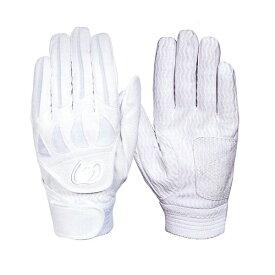 【ネーム刺繍無料】ジームス(Zeems) 高校野球対応 バッティング手袋(両手用) ZER-610W カラー:ホワイト【送料無料/野球用品】