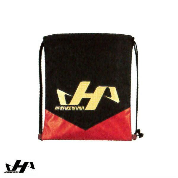 【A】ハタケヤマ(HATAKEYAMA) グラブ袋 ブラック×レッド BA-10 【メール便なら送料無料】