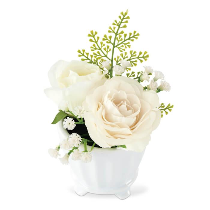 KISHIMA キシマ 消臭アーティフィシャルフラワー ミラベル MIRABELLE ARTIFICIAL FLOWER S KH-61054 White ホワイト 観葉植物 CT触媒