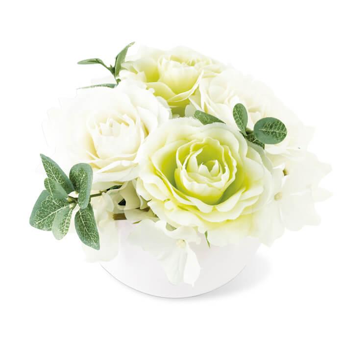 KISHIMA キシマ 消臭アーティフィシャルフラワー ミラベル MIRABELLE ARTIFICIAL FLOWER M KH-61056 White ホワイト 観葉植物 CT触媒