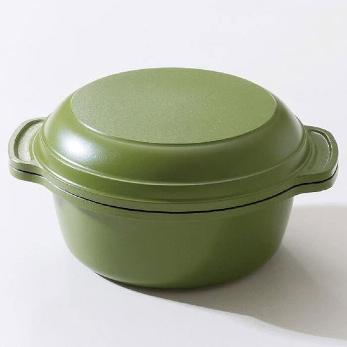 ご飯鍋 ワンズポット 炊飯鍋 Wu Wen ONE'S PAN ウー・ウェン (WO14BG)<ビターグリーン>