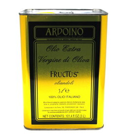 アルドイノ エクストラヴァージン オリーブオイル フルクトゥス 3L エキストラオリーブオイル ARDOINO OLIVEOIL 【 ※ご注文後のキャンセル・返品・交換不可。 】