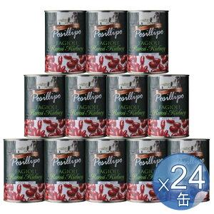 【箱入りセットでお買い得】POSILLIPO/ポジリポ ファジョーリ・ロッシ・キドニー(赤いんげん豆)水煮 400g <24缶セット> 【 ※ご注文後のキャンセル・返品・交換不可。 】