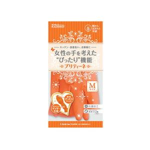 ダンロップ 天然ゴム手袋 プリティーネ Mサイズ オレンジ( キッチンブランチ )