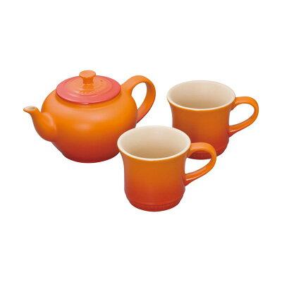 ルクルーゼ LE CREUSET ル クルーゼ ティーポット&マグSS(2個入)セット 910296-00 <オレンジ>( キッチンブランチ )