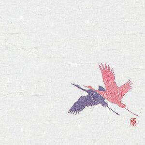 ニュー四季懐紙 4寸 (100枚入) NS-28 鶴(祝) 120×120mm( キッチンブランチ )