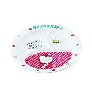 メラミンお子様食器「ニューキティ」 丸ランチ皿(ギンガム) 直径210×H24mm