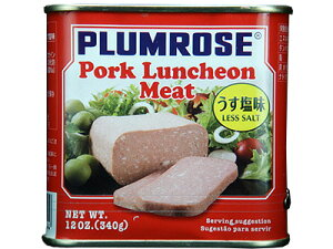 プラムローズ ポークランチョンミート うす塩味【朝食】【輸入食品】