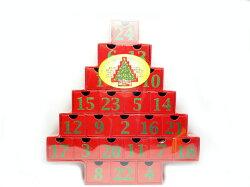 クリスマスクリスマスツリーアドベントカレンダーカウントダウンカレンダーレッド【輸入食品】