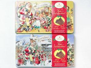 クリスマスノスタルジック チョコエンボス缶お菓子 クリスマス【輸入食品】