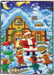 クリスマスサンタクロース日めくりカレンダー(アドベントカレンダー)Bチョコレート入りサンタとスノーマン【輸入食品】