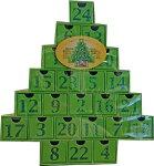 クリスマスクリスマスツリーアドベントカレンダーカウントダウンカレンダーグリーン【輸入食品】