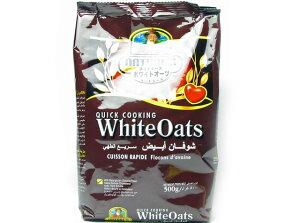 ネイチャーズホワイトオーツ オートミール 500g袋【朝食】【輸入食品】