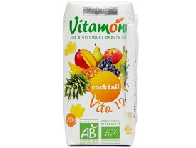 ヴィタモント 有機ミックスジュース(100%ストレートジュース)【朝食】【輸入食品】