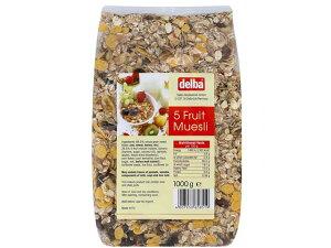 デルバ ファイブフルーツミューズリー 1kg【輸入食品】