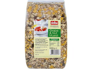 【新商品】デルバ グレープ&ナッツミューズリー 1kg【輸入食品】