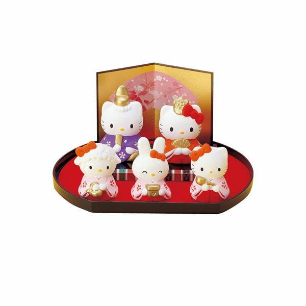 【送料無料】雛祭り Hello Kitty ハローキティ(キティちゃん) ひな飾りセット 小さいひな人形 雛人形【食器】