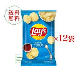 送料無料レイズポテトチップスソルト&ビネガー味1ケース(12袋入り)【輸入食品】