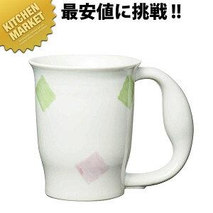 721 ほのぼのマグカップ スクエア【kmaa】中空二重構造 介護用 コップ マグカップ コーヒーカップ 領収書対応可能