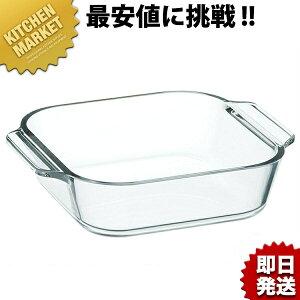 耐熱 オーブントースター皿(ハーフ)B38401【kmss】 耐熱ガラス 製菓道具 お菓子作り ケーキ型 グラタン 四角 型 業務用 あす楽対応