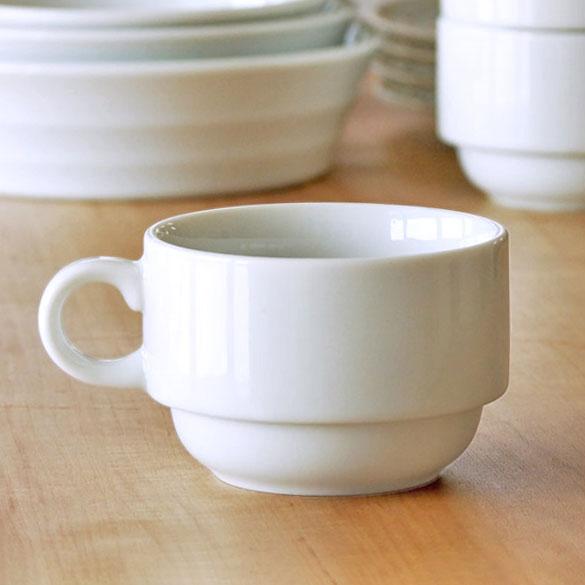 コーヒーカップ 白 スタッキングカップ小 スープカップ 陶器 業務用食器