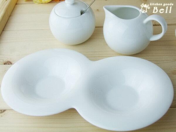 comodo コモド 2品皿 Wソーサー ..- 受け皿/薬味皿/白い食器/洋食器/カフェ食器/おしゃれ 業務用食器