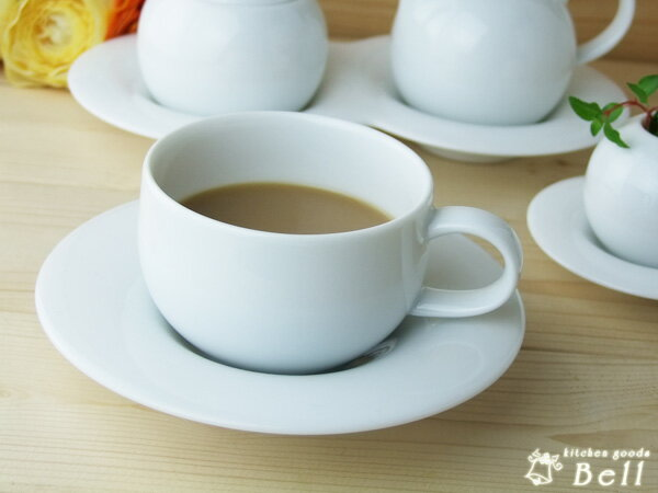 comodo コモド コーヒーカップ & ソーサー ..- 白い食器/洋食器/カフェ食器/カフェ風/おしゃれ/コーヒー/受け皿/モーニング/ランチ/カップ&ソーサー/業務用食器