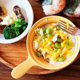 目玉焼き耐熱プレートM選べる2色アイボリーORイエロー直火アヒージョグラタン皿デザート皿業務用食器