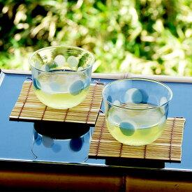 和食器 グラス セット 5個組 アデリア 水玉ぐらす 冷茶セット 当店オリジナル すだれ竹コースター付き 冷茶用 ガラス食器 あす楽 ギフト