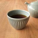 しのぎ ティーカップ グレー 洋食器 北欧 美濃焼 ゆのみ コップ カップ