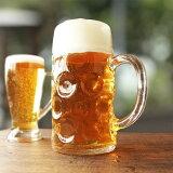 ビックなビールジョッキ1000ml/ガラス食器/ビールジョッキ特大/メガジョッキ/ビールグラス/ビールジョッキ1リットル/イタリア製