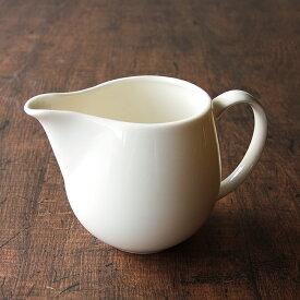 ドレッシング ピッチャー ミルクピッチャー 白 満水 330cc 陶器/白い食器/入れ物/容器/調味料入れ/カフェ食器/カフェ風/おしゃれ/ニューボン磁器/業務用食器