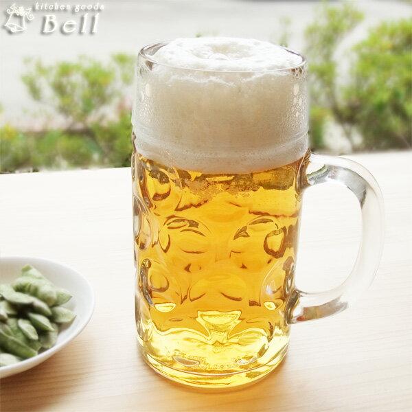 ビックなビールジョッキ(1000ml)..-ガラス食器/イタリア製/Borgonovo(ボルゴノボ) 業務用食器