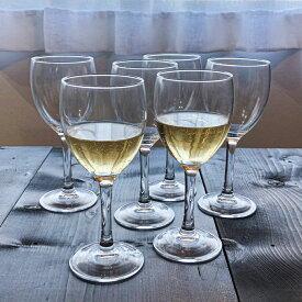 6個セット ワイングラス プリンセサ 230cc 6本セット アルク製 ガラス/ワイングラス セット/食前酒/ぶどう酒カップ/業務用食器