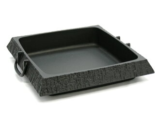 Southern iron rock casting Sukiyaki pot rock garden square (large) Southern iron / cast iron / Sukiyaki pot