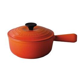 [MAX10%OFFクーポン 24日10時〜] 2507-18 ル・クルーゼ ソースパン18cm オレンジ