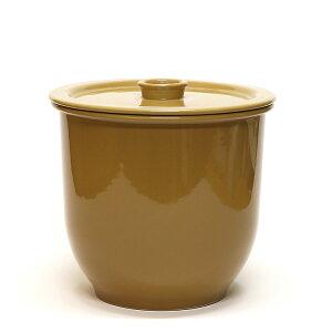 日本製漬物容器常滑焼かめ蓋付5号9.0Lキャメル