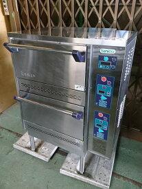【中古】タニコー tanico ガス立体炊飯器 TGRC-2ST 都市ガス用(13A) 100V 7kg×2段 ガス炊飯器 業務用厨房機器【動作確認済み】