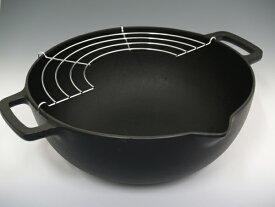南部鉄器 『天ぷら鍋 深型 24cm』 岩鋳 日本製  【RCP】