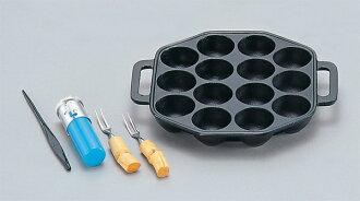 """Nanbu ironware takoyaki Pan """"that shine set (small) 14 holes ' Rock c.c. made in Japan 24021"""
