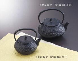 鉄分補給にどうぞ!南部鉄器 『 新急須 3型新亀甲 (鉄瓶兼用 直火OK) 』 岩鋳 日本製 12803