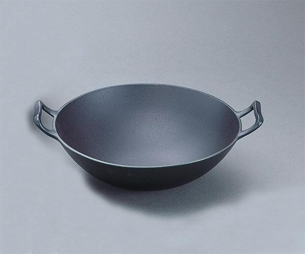 在庫有ります【送料無料】南部鉄器鉄鍋 『 中華鍋深型(中) 』 岩鋳 日本製 21052