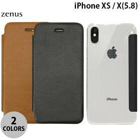 【マラソンクーポン有り】 ZENUS iPhone XS / X Classic Clear Flip ゼヌス (iPhoneXS / iPhoneX スマホケース) [PSR]