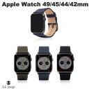 【キャッシュレス5%還元】 [ネコポス可] SLG Design Apple Watch バンド 42mm / 44mm用 Wax Canvas エスエルジー デザイン (アップルウォッチ ベルト) [PSR]