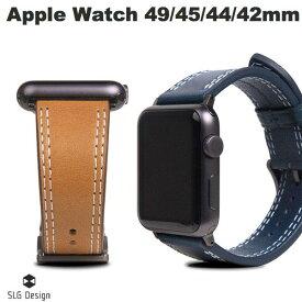 【マラソンクーポン有り】 SLG Design Apple Watch バンド 42mm / 44mm用 Italian Temponata Leather エスエルジー デザイン (アップルウォッチ ベルト バンド) [PSR]