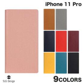 【マラソンクーポン有り】 [ネコポス送料無料] SLG Design iPhone 11 Pro Calf Skin Leather Diary 本革 手帳型ケース エスエルジー デザイン (iPhone11Pro スマホケース) [PSR]