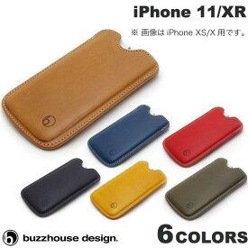 [ネコポス送料無料] buzzhouse design iPhone 11 / XR ハンドメイドレザーケース バズハウスデザイン (iPhone 11 / XR スマホケース) [PSR]