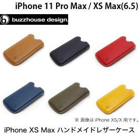 buzzhouse design iPhone 11 Pro Max / XS Max ハンドメイドレザーケース バズハウスデザイン (iPhone11ProMax / XSMax スマホケース) [PSR]